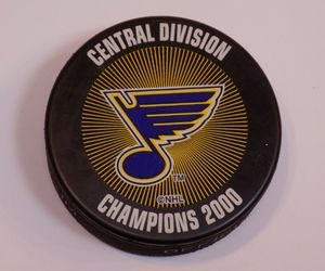 St Louis Blues Hockey Saint Puck NHL Stanley Cup Central Division Champions 2000, an item from the 'Community Picks: St. Louis Blues' hand-picked list