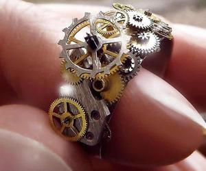 Personality Steampunk Mechanical Gear Clockwork Rings for Men Women Gothic Finge, an item from the 'Community Picks: Steampunk & Gothic Jewelry' hand-picked list