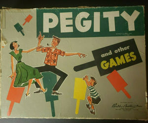 Vintage 1953 Parker Brothers Pegity Peg Board Game, an item from the 'Community Picks: Game On...' hand-picked list