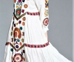 FRMZ 100% Cotton Boho White Multicolor Floral Embroidered Loose Dress Sz.M , an item from the 'Boho Mom' hand-picked list
