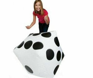 Inflatable Dice Game Cube Funny Outdoor Swimming Pool Beach Big Toy Party Water, an item from the 'It's all Fun and Games!!' hand-picked list