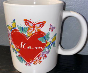 NEW Mothers Day Mug Cup Coffee Tea Gift  Mom Ceramic Heart Butterflies, an item from the 'Mugs for Moms' hand-picked list