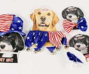Patriotic Pet Dress Up Costumes Red White and Blue, an item from the 'Memorial Day - A Time to Remember' hand-picked list