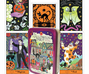 HALLOWEEN TAROT TIN BOX DECK CARDS KIPLING WEST ESOTERIC US GAMES SYSTEMS NEW, an item from the 'Halloween Party Games' hand-picked list