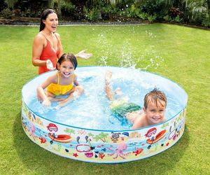 INTEX 5ft X 10in Fun Beach Snapset Instant Kids Childrens Swimming Pool 56451EP, an item from the 'Community Picks: Pool Party' hand-picked list