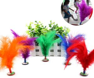 2Pcs Feather Chinese Kick Shuttlecock Kids Toy Sport Exercise Outdoor Game, an item from the 'It's all Fun and Games!!' hand-picked list