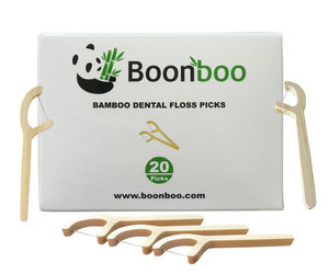 Bamboo Dental Floss Picks | 20CT Reusable Picks | Sustainable & Biodegradle, an item from the 'Sustainable Beauty' hand-picked list