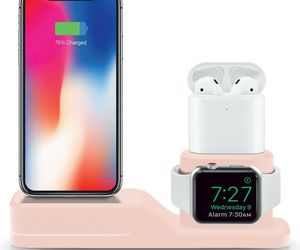 3-in-1 Device Stand Desktop Charging Station For iPhone Apple Watch Air Pods NEW, an item from the 'Gifts for Grads' hand-picked list