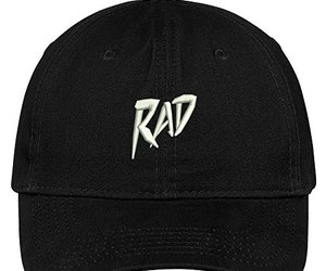 Trendy Apparel Shop Rad Embroidered Brushed Cotton Dad Hat Cap - Black, an item from the 'Community Picks: Rad Dad' hand-picked list