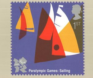 Paralympic Olympic Games Sailing Boat Race Sports Postcard, an item from the 'Paralympic Souvenirs' hand-picked list