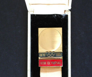 1964 Tokyo Olympic Games Japan Special Delegates Badge with ribbon and in box, an item from the 'Community Picks: Olympics in Japan' hand-picked list