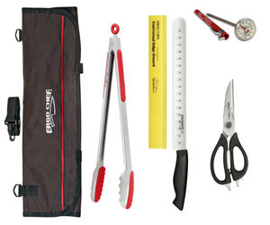 """BBQ Grilling knife tool set Grill tongs 12"""" slicer thermometer shears knife bag, an item from the 'Juneteenth Celebrations' hand-picked list"""