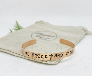 """""""Be Still And Know"""" Copper hand stamped cuff bracelet - Adjustable Size, an item from the 'Gifts for Grads' hand-picked list"""