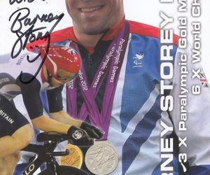 Barney Storey MBE Cyclist 3 x Paralympic Gold Official Hand Signed Photo, an item from the 'Paralympic Souvenirs' hand-picked list