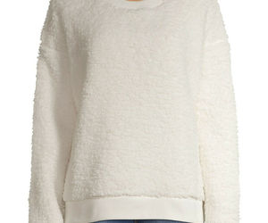 Secret Treasures Women's and Women's Plus Faux Sherpa Sleep Top White L, XL, 2X, an item from the 'All Things Cozy' hand-picked list