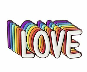 LGBT Gay Pride Love Is Love Rainbow Enamel Brooch Pins Badge Lapel Pins Brooches, an item from the 'Show Your Pride' hand-picked list