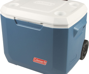 Coleman Camping Picnic Outdoor Portable Wheeled Cooler w Wheels 50-Quart NEW, an item from the 'Juneteenth Celebrations' hand-picked list