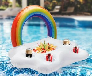 Summer Party Bucket Rainbow Cloud Cup Holder Inflatable Pool Float Beer Pong New, an item from the 'Summer Party' hand-picked list