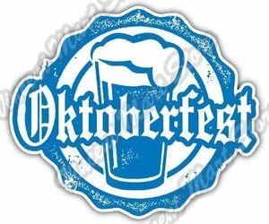 "Oktoberfest Beer Germany Munich Grunge Stamp Car Bumper Vinyl Sticker Decal 4.6"", an item from the 'Oktoberfest' hand-picked list"