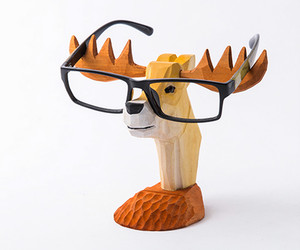 Wooden Moose Glasses Holder - Father's Day Gift, an item from the 'Vision with Style' hand-picked list