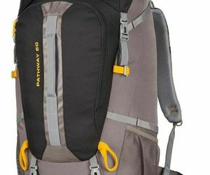 High Sierra Pathway 60L Internal Frame Hiking Backpack Black/Slate/Gold, an item from the 'It's in the Bag - Backpacks' hand-picked list