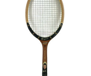 Vintage 1960s Regent Contender Tennis Racket Don Budge Picture Grand Slam Wooden, an item from the 'Community Picks: Tennis Anyone?' hand-picked list