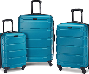 Samsonite Omni Pc Hardside Expandable Luggage With Spinner Wheels, Caribbean Blu, an item from the 'Travel Must-Haves' hand-picked list