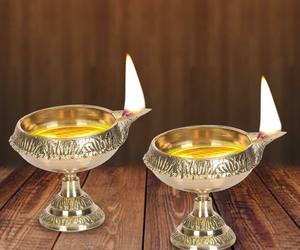 Diwali Kuber Deepak On Stand (Diya Oil Lamp) For Puja Home Décor (Set of 2), an item from the 'Happy Diwali' hand-picked list