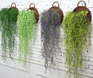 Artificial Hanging  Flower Plant Fake Green Leaves Home Garden Wedding Party Dec, an item from the 'Home Decor' hand-picked list