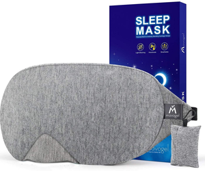 Mavogel Cotton Sleep Eye Mask Updated Design Light Blocking Sleep Mask, an item from the 'Travel Must-Haves' hand-picked list