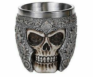 Medieval Roman Centurion Knight Warrior Skull With Battle Helmet Tea Coffee Cup, an item from the 'Skulduggery' hand-picked list