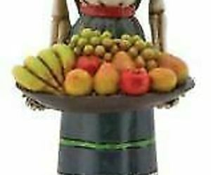 """Day of The Dead Fruit Lady Skeleton with Basket of Fruit Figurine 6"""" Height, an item from the 'Dia de los Muertos ' hand-picked list"""