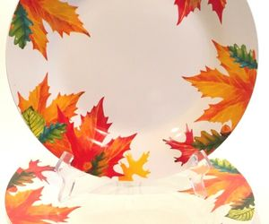 """Royal Norfolk Autumn Leaves 10-1/2"""" Dinner Plates Set of 3 Thanksgiving Fall, an item from the 'Leaf It Be' hand-picked list"""