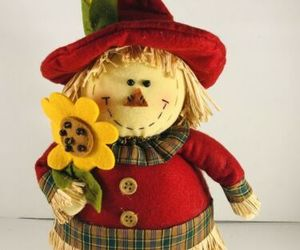 """Scarecrow Harvest Table Top Decor Autumn Fall Cloth 13"""" Tall, an item from the 'Fall Table Decor' hand-picked list"""