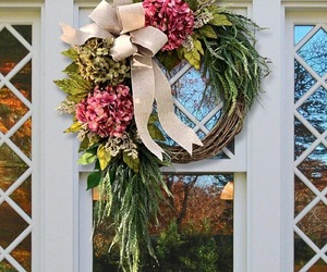 Pink Hydrangea Wreath For Front Door, Home Decor Accessories Artificial Garland, an item from the 'Home Decor' hand-picked list