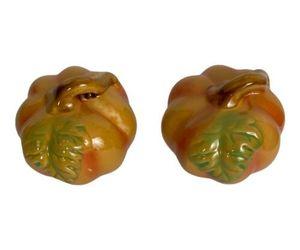 "2 Pumpkins Harvest Ceramic Decorative Pumpkins Fall Orange Decor 3"" x 3"" NEW  , an item from the 'Fall Table Decor' hand-picked list"