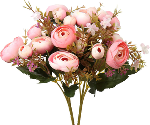 Fake Peonies Artificial Roses Flower Bouquet Silk Roses for Home Decor 2 Bouquet, an item from the 'Home Decor' hand-picked list