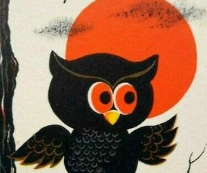 Halloween Tally Game Card Owl Full Moon On Tree Original NOS Vintage Foldout, an item from the 'Owl Aboard!' hand-picked list