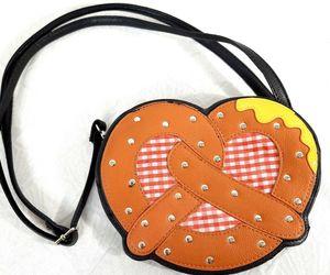 RARE Sleepyville Critters Pretzel with mustard purse handbag German Oktoberfest, an item from the 'Oktoberfest' hand-picked list