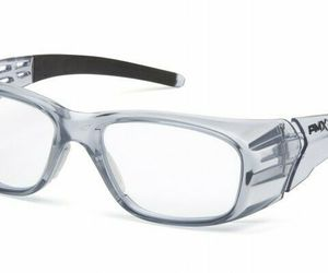 Pyramex SG9810R20 Emerge Plus Safety Glasses, Gray Frame/Clear Full Reader +2.0, an item from the 'Vision with Style' hand-picked list