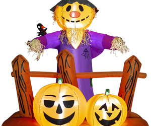 HOOJO 6 FT Halloween Inflatable Scarecrow with Pumpkins Outdoor Decoration with, an item from the 'Pumpkin Patch' hand-picked list