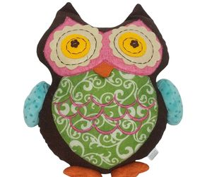 """Embroidered Multicolored Owl Bird Plush Stuffed Animal 12.5"""", an item from the 'Owl Aboard!' hand-picked list"""