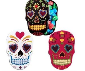 Dia de los Muertos Day of the Dead Sugar Skull Sweet Candy Tin!, an item from the 'Dia de los Muertos ' hand-picked list