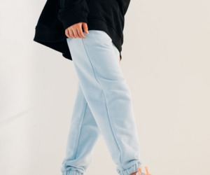 Tundora Handmade Blue Organic Cotton Joggers, an item from the 'All Things Cozy' hand-picked list