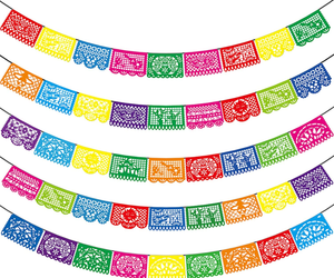 Mexican Party Banners - 5 Pack Fiesta Mexican Party Dia De Los Muertos Day of th, an item from the 'Dia de los Muertos ' hand-picked list