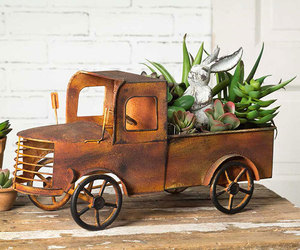 Charleston Pick-up Truck Planter | Home decor | Tabletop item, an item from the 'Home Decor' hand-picked list