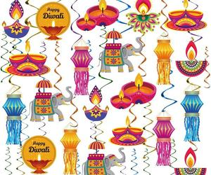 Happy Diwali Hanging Swirls Party Decoration Supplies - of, an item from the 'Happy Diwali' hand-picked list