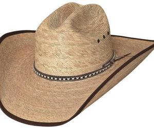 Bullhide Wide Open 15X Palm Leaf Straw Cowboy Hat Bound Brim Cattleman Natural, an item from the 'The Kit and Caboodle ' hand-picked list