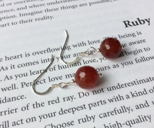 Ruby Sterling Silver Earrings Nickel Free July Birthstone Gift for Mothers Day, an item from the 'Treat Yourself' hand-picked list