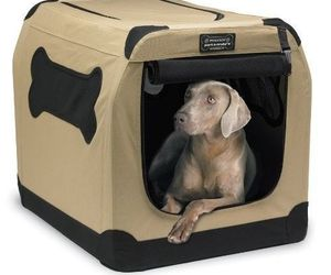 Portable Crate Indoor/Outdoor Pet Home Dog Carrier Tote Bed Cage House Carry Cat, an item from the 'Love Dogs?' hand-picked list